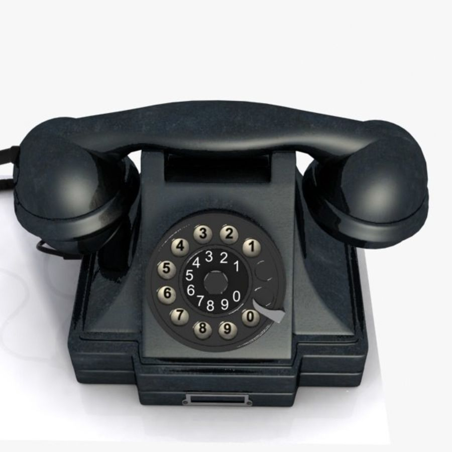 Vintage Phone royalty-free 3d model - Preview no. 10