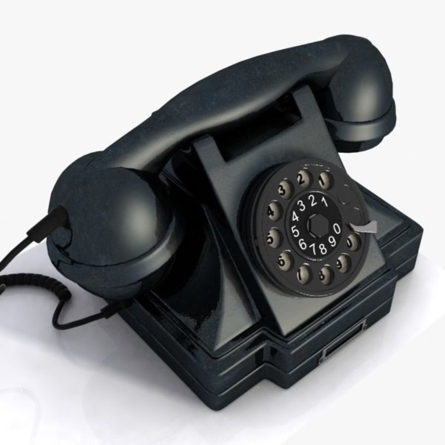 Vintage Phone royalty-free 3d model - Preview no. 8