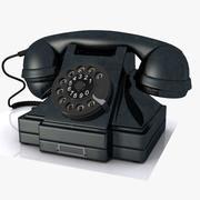Старинный телефон 3d model