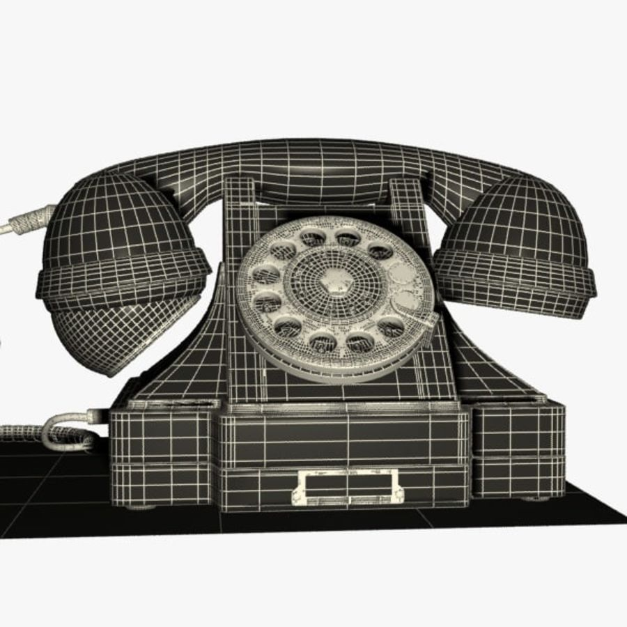 Vintage Phone royalty-free 3d model - Preview no. 12