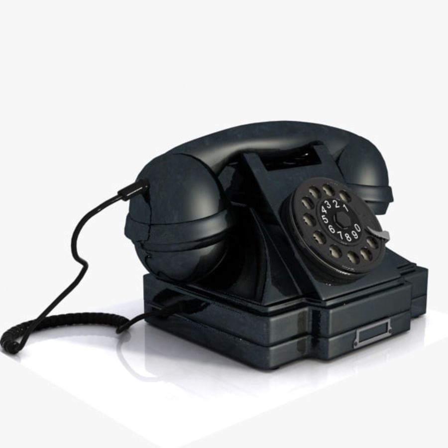 Vintage Phone royalty-free 3d model - Preview no. 6