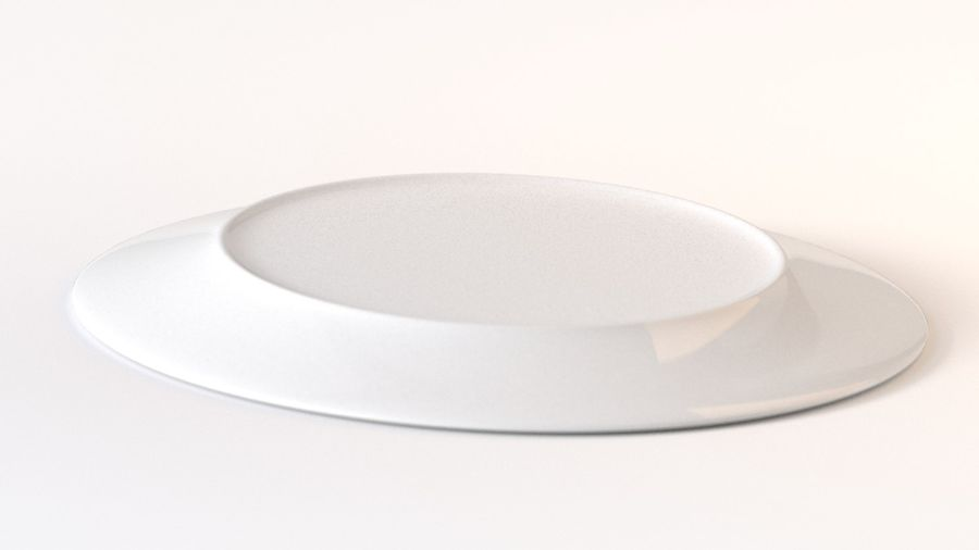 Ringed Ceramic Plate royalty-free 3d model - Preview no. 2