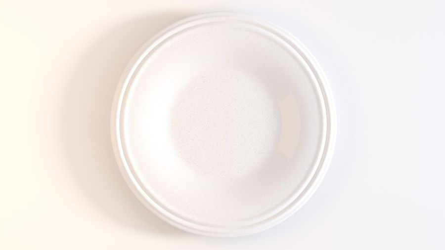 Ringed Ceramic Plate royalty-free 3d model - Preview no. 4