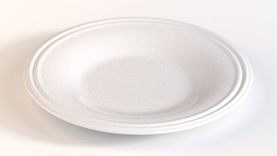 Ringed Ceramic Plate royalty-free 3d model - Preview no. 1