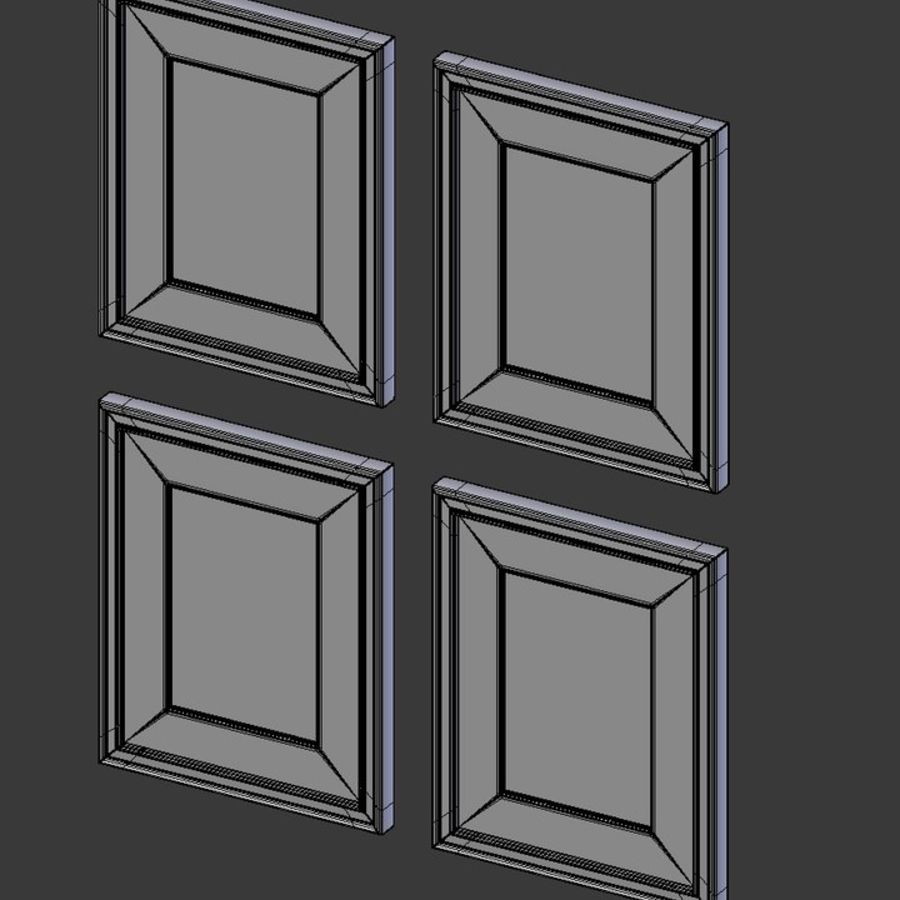 Artwork - Picture Frames Set of 4 royalty-free 3d model - Preview no. 9