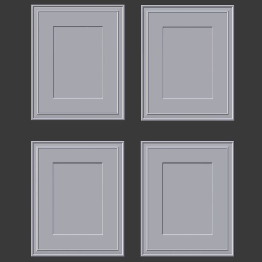 Artwork - Picture Frames Set of 4 royalty-free 3d model - Preview no. 4
