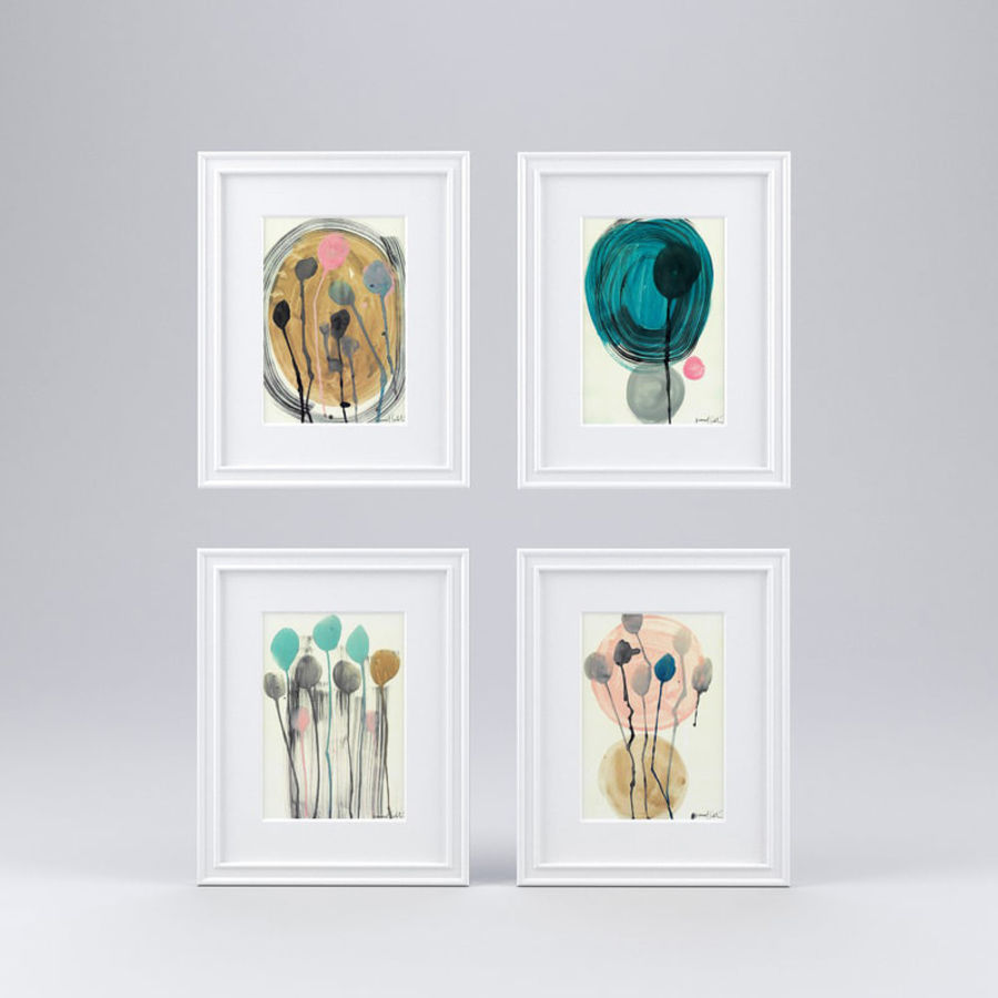 Artwork - Picture Frames Set of 4 royalty-free 3d model - Preview no. 1