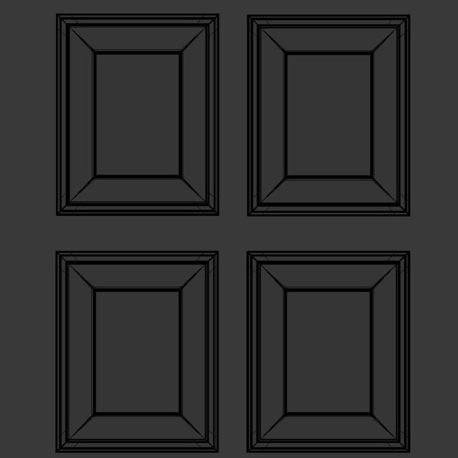 Artwork - Picture Frames Set of 4 royalty-free 3d model - Preview no. 8
