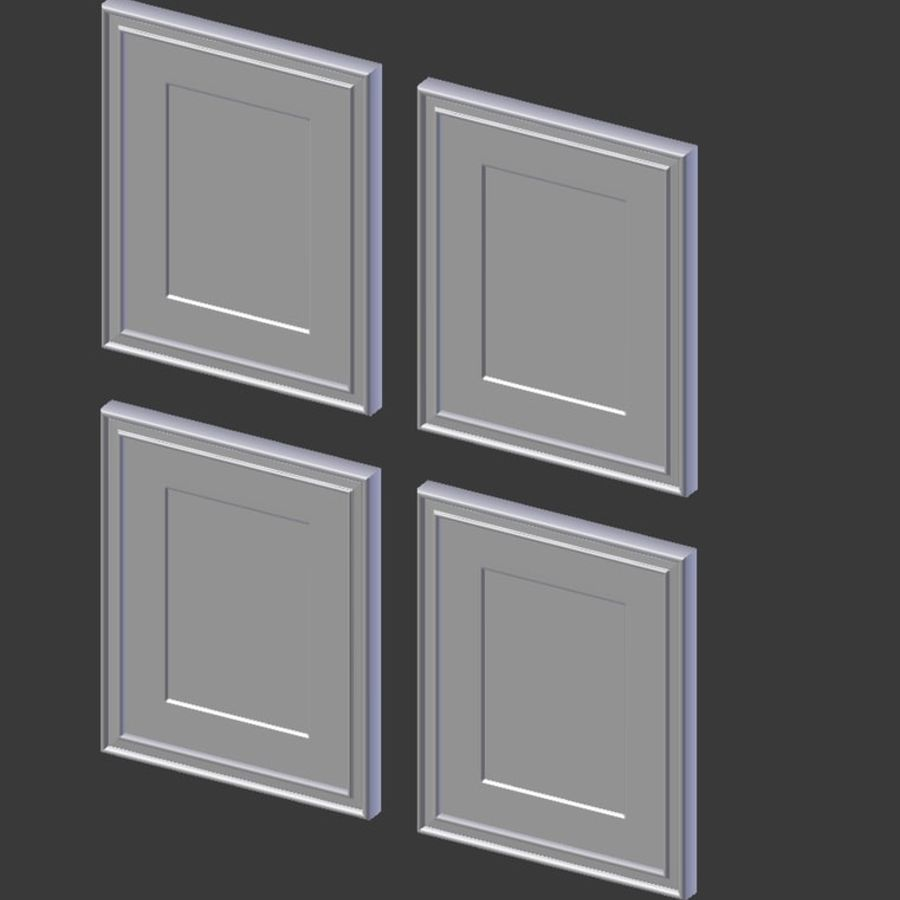 Artwork - Picture Frames Set of 4 royalty-free 3d model - Preview no. 3