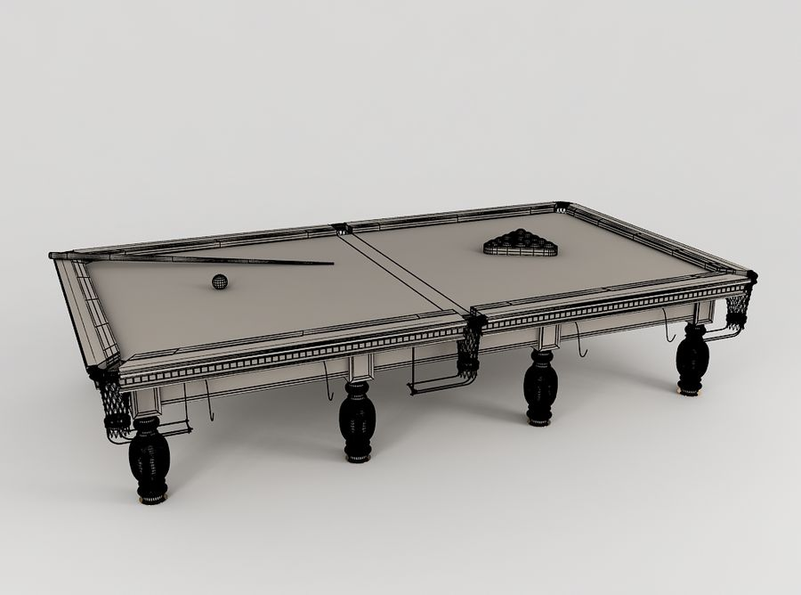 Pool Table royalty-free 3d model - Preview no. 6