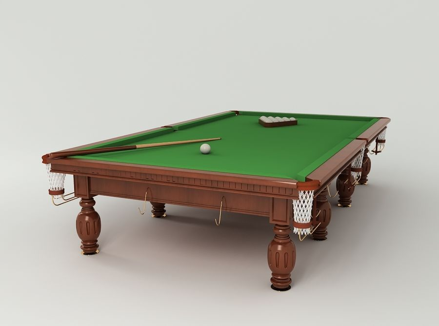 Pool Table royalty-free 3d model - Preview no. 3