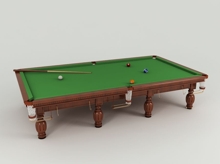 Pool Table royalty-free 3d model - Preview no. 4