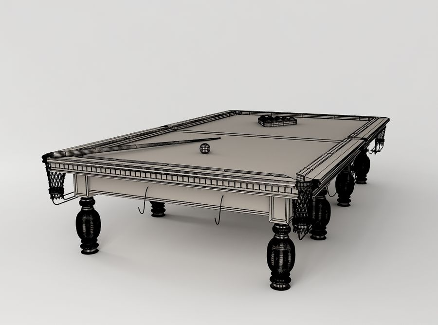 Pool Table royalty-free 3d model - Preview no. 5