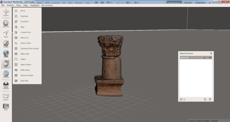 Column Capital 3D Print royalty-free 3d model - Preview no. 12