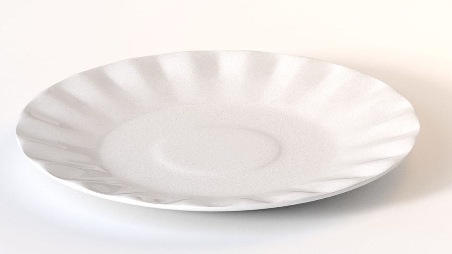 Ceramic Plate royalty-free 3d model - Preview no. 5