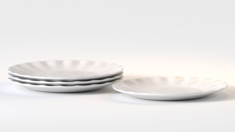 Ceramic Plate royalty-free 3d model - Preview no. 4
