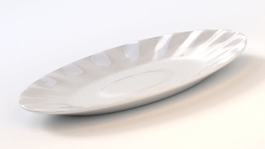 Ceramic Plate royalty-free 3d model - Preview no. 1