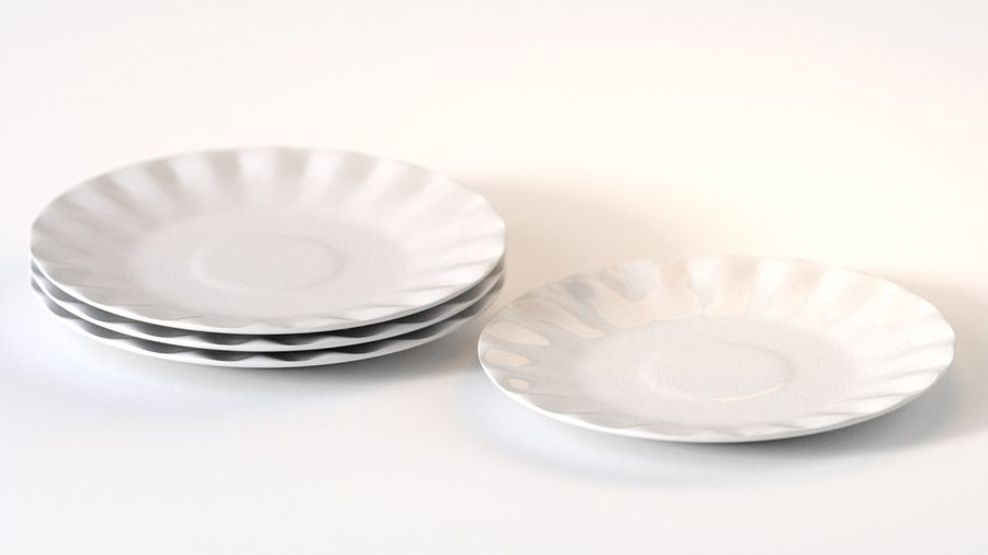 Ceramic Plate royalty-free 3d model - Preview no. 2