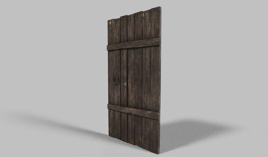 Medieval Door royalty-free 3d model - Preview no. 2