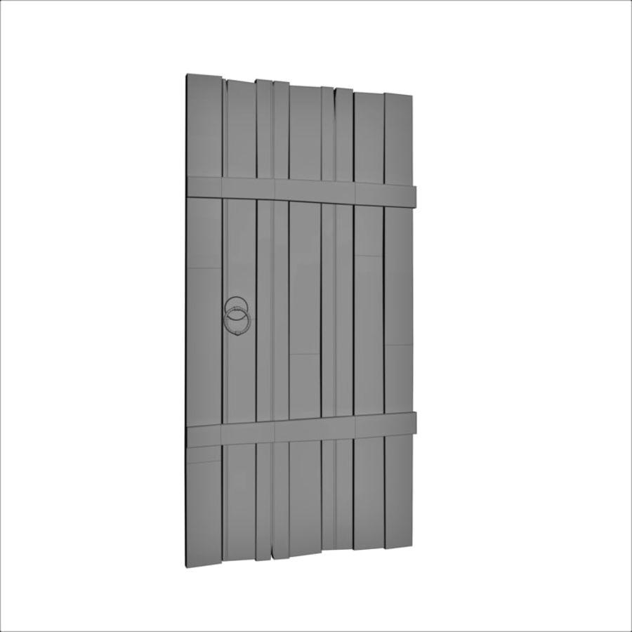 Medieval Door royalty-free 3d model - Preview no. 5