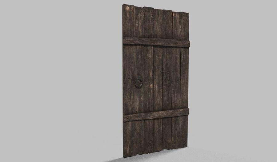 Medieval Door royalty-free 3d model - Preview no. 1