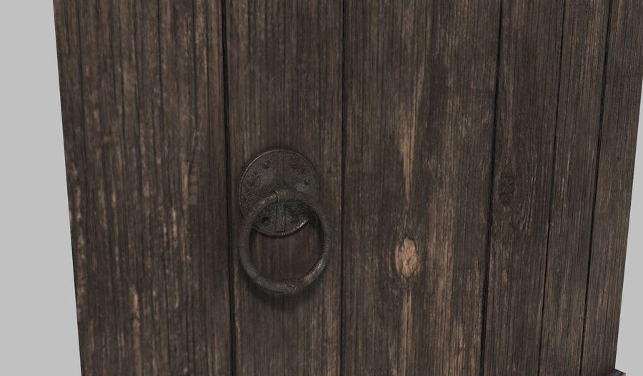 Medieval Door royalty-free 3d model - Preview no. 3