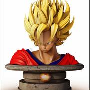 Bust Goku, Dragon Ball. 3d model