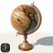 Ancient globe low poly 3d model