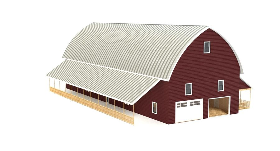 Barn 2 royalty-free 3d model - Preview no. 7