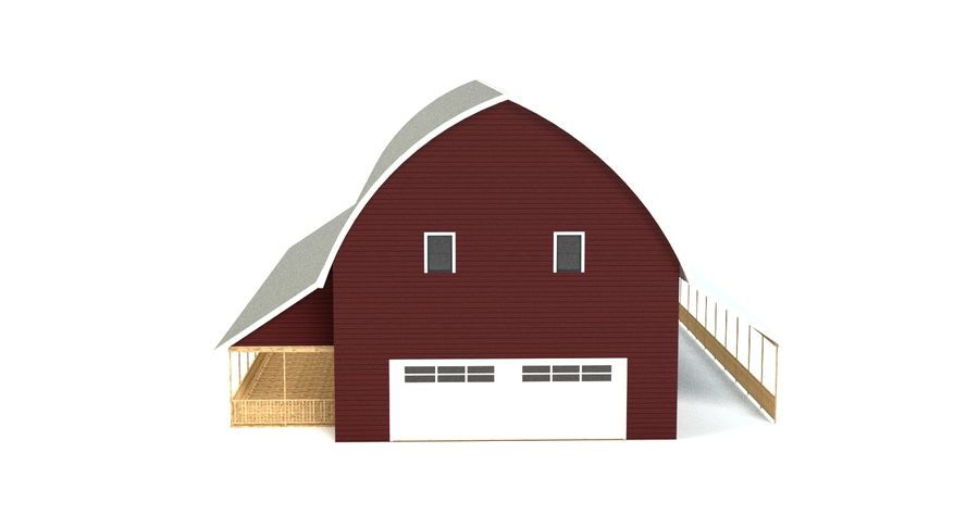 Barn 2 royalty-free 3d model - Preview no. 9