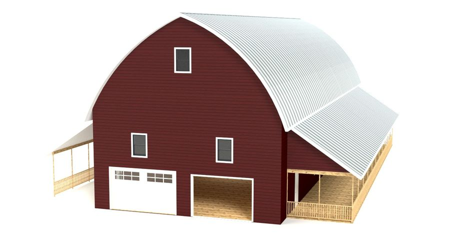 Barn 2 royalty-free 3d model - Preview no. 2