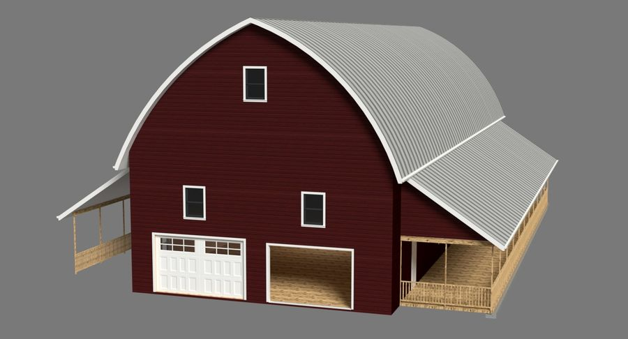 Barn 2 royalty-free 3d model - Preview no. 3