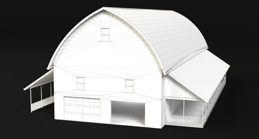 Barn 2 royalty-free 3d model - Preview no. 5