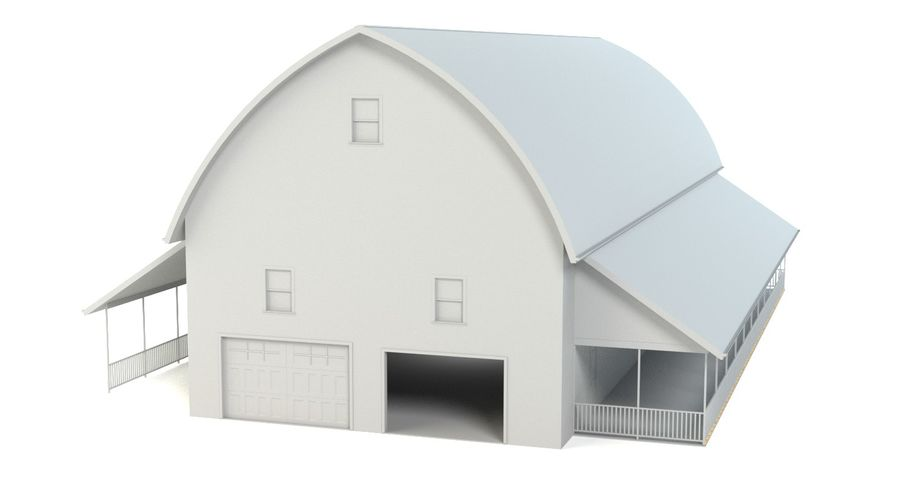 Barn 2 royalty-free 3d model - Preview no. 4