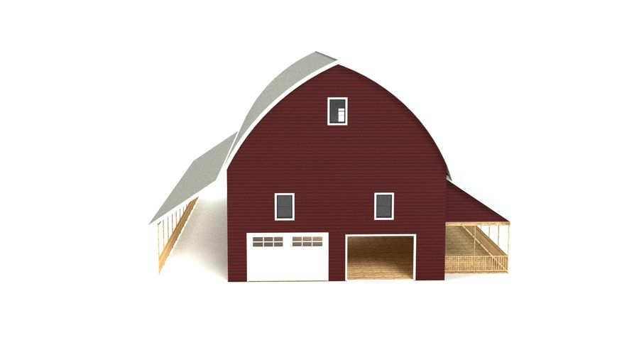 Barn 2 royalty-free 3d model - Preview no. 6