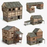Medieval House Set 3d model