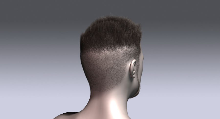 Virtual Hair 11 royalty-free 3d model - Preview no. 7