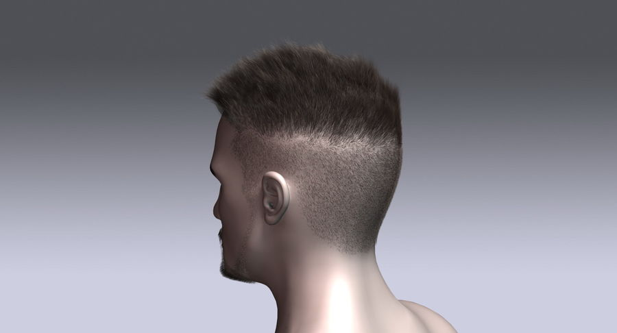 Virtual Hair 11 royalty-free 3d model - Preview no. 9