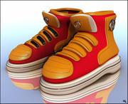 Boot Sneakers Cartoon 3d model