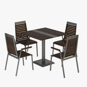 Outdoor Table and Chair 3d model