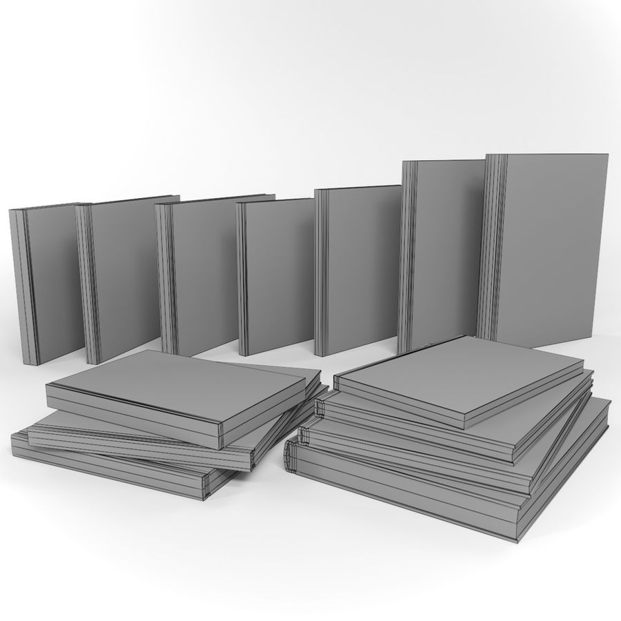 Architectuur Boeken Duits royalty-free 3d model - Preview no. 5