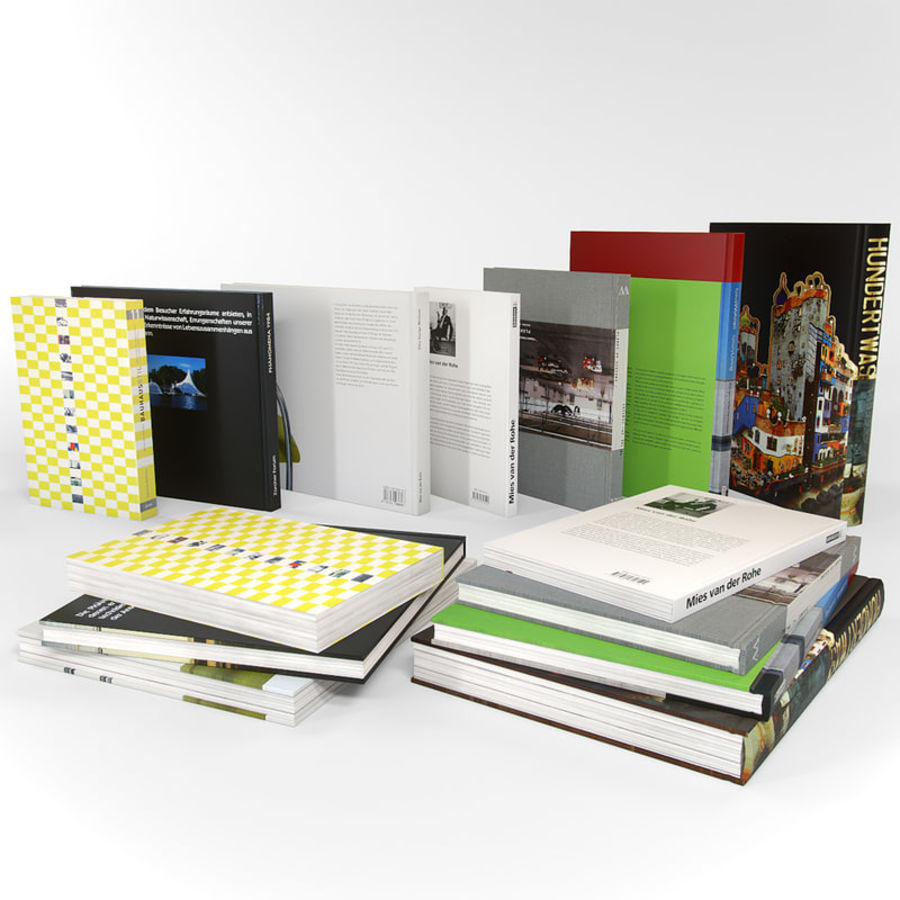 Architectuur Boeken Duits royalty-free 3d model - Preview no. 4