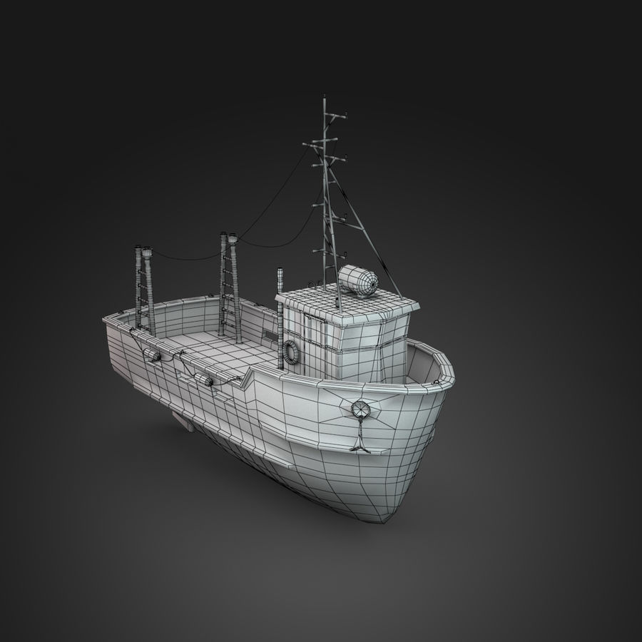 Fishing Boat royalty-free 3d model - Preview no. 8