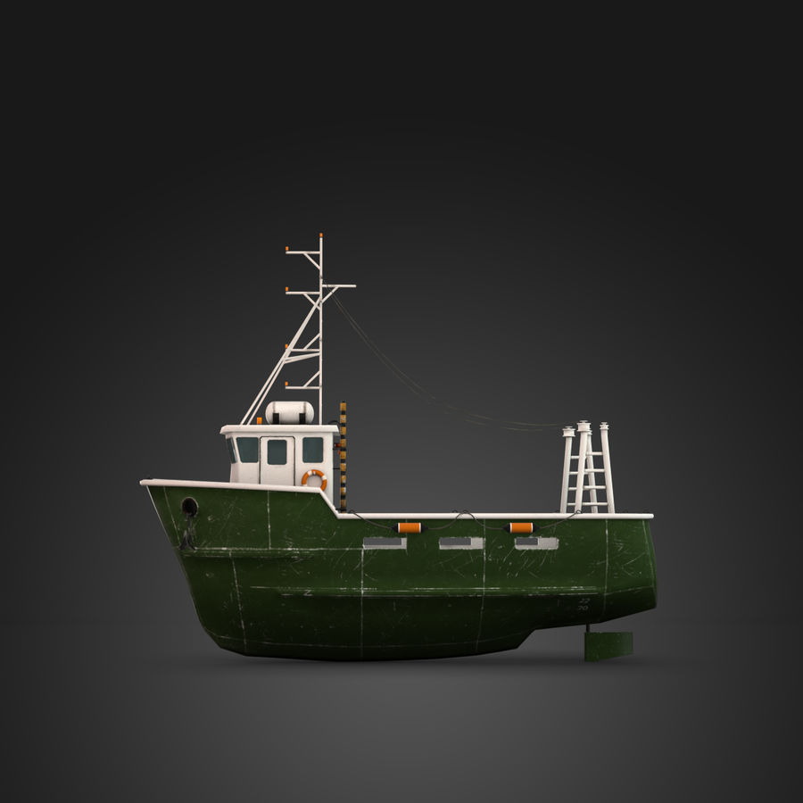 Fishing Boat royalty-free 3d model - Preview no. 11
