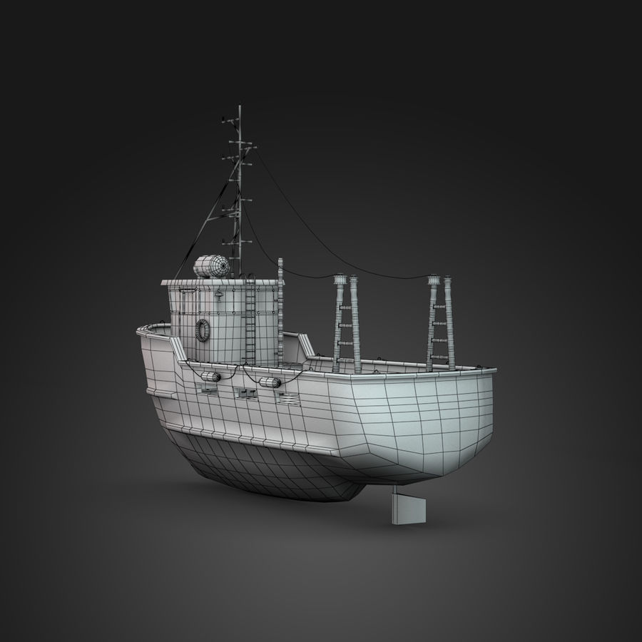 Fishing Boat royalty-free 3d model - Preview no. 6