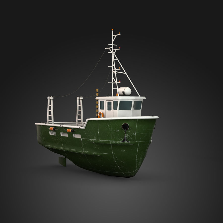 Fishing Boat royalty-free 3d model - Preview no. 3