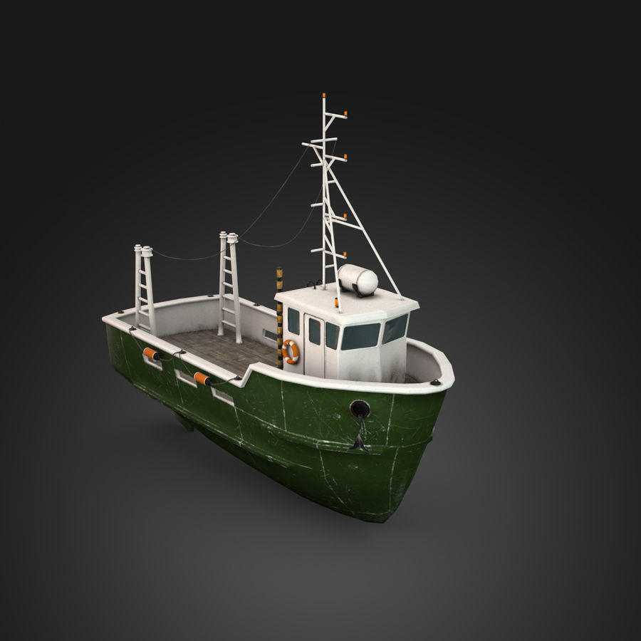 Fishing Boat royalty-free 3d model - Preview no. 7