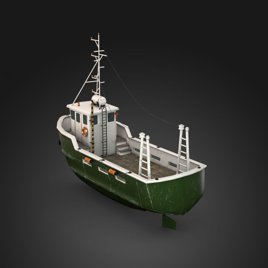 Fishing Boat royalty-free 3d model - Preview no. 9
