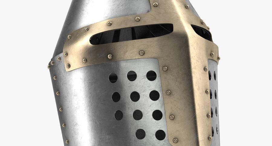 Casque de topfhelm royalty-free 3d model - Preview no. 4