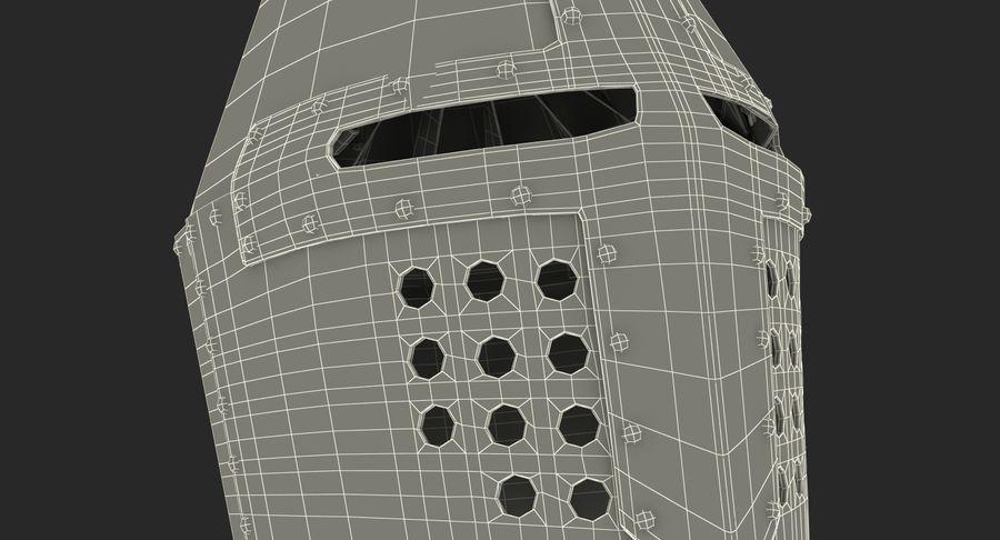 Casque de topfhelm royalty-free 3d model - Preview no. 21